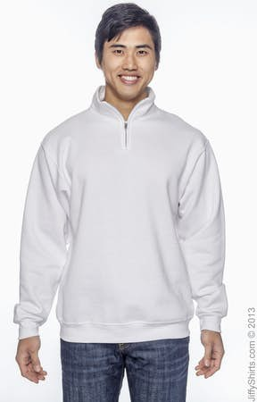 122891fdff9 Jerzees 995M Adult 8 oz. NuBlend® Quarter-Zip Cadet Collar Sweatshirt -  JiffyShirts.com