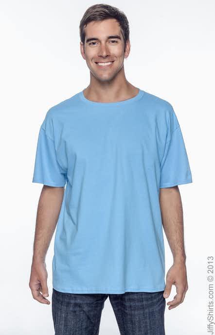 Hanes 5250T Aquatic Blue
