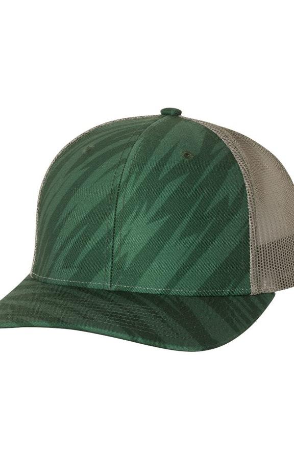 Richardson 112P Streak Dark Green/ Charcoal