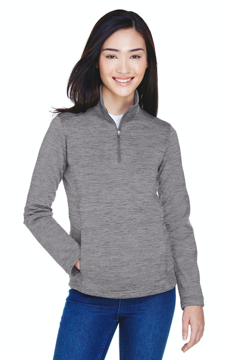 a208887845a4 Devon   Jones DG798W Ladies  Newbury Mélange Fleece Quarter-Zip ...