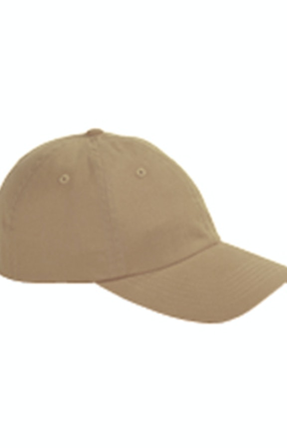 0e903c1a6 Big Accessories BX001 Khaki 6-Panel Brushed Twill Unstructured Cap