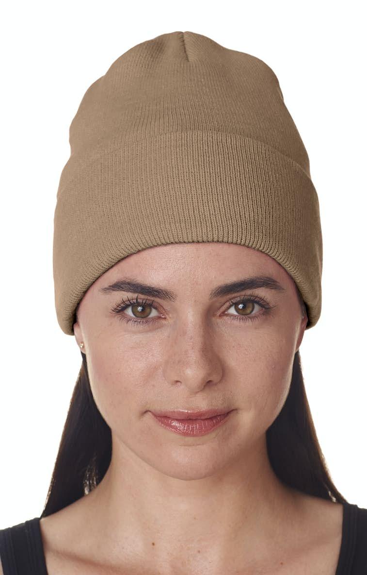 02edd9da296 UltraClub 8130 Adult Knit Beanie with Cuff - JiffyShirts.com