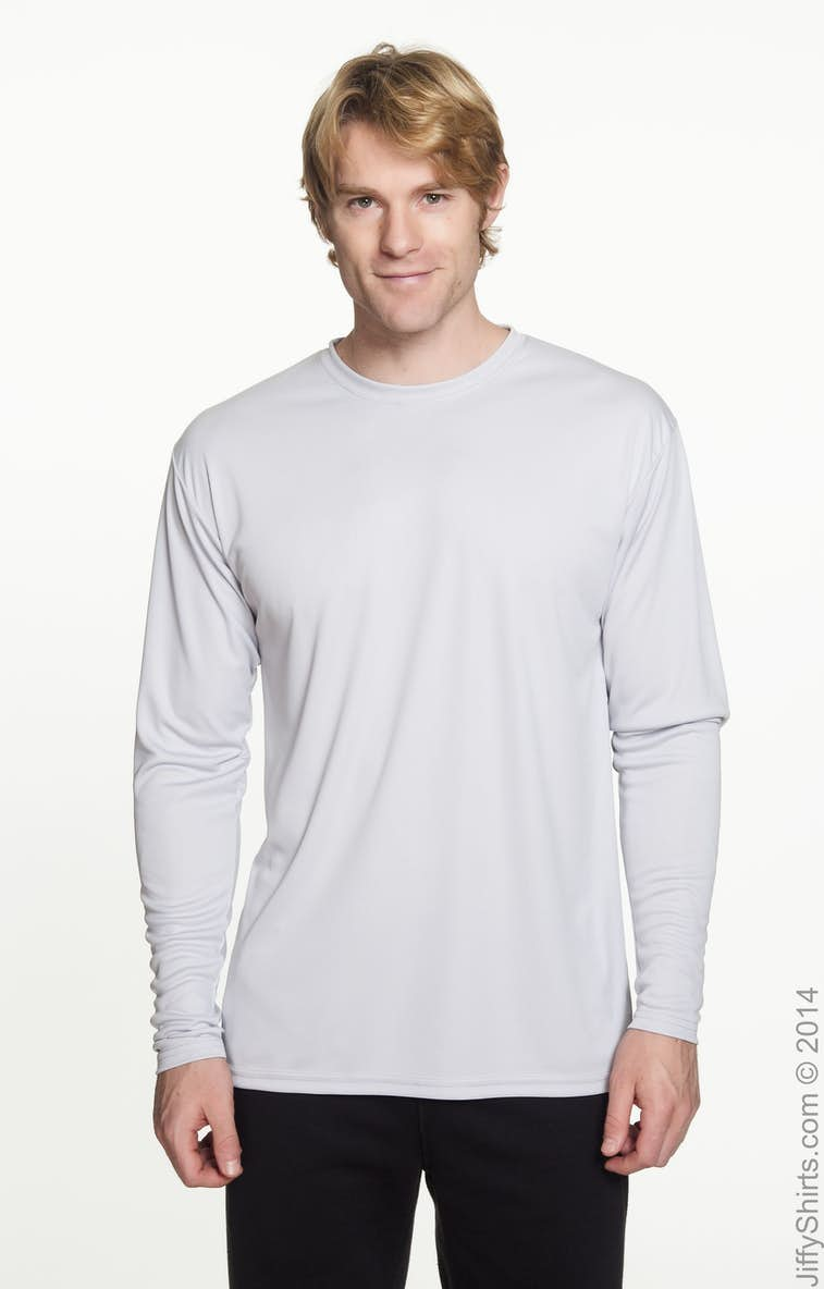 746b620c A4 N3165 Men's Cooling Performance Long Sleeve T-Shirt - JiffyShirts.com