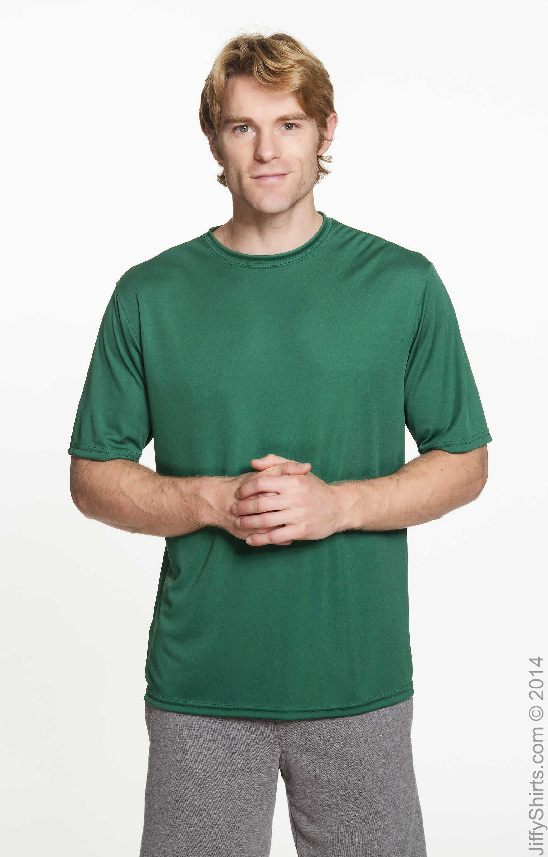 A4 Mens Tourney Heather Short Sleeve Colo Block