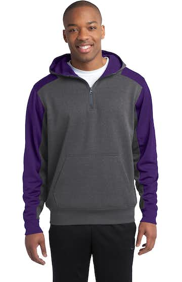 Sport-Tek ST249 Graphite Heather / Purple