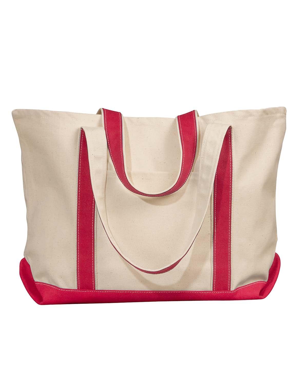 Liberty Bags 8872 Natural/Red