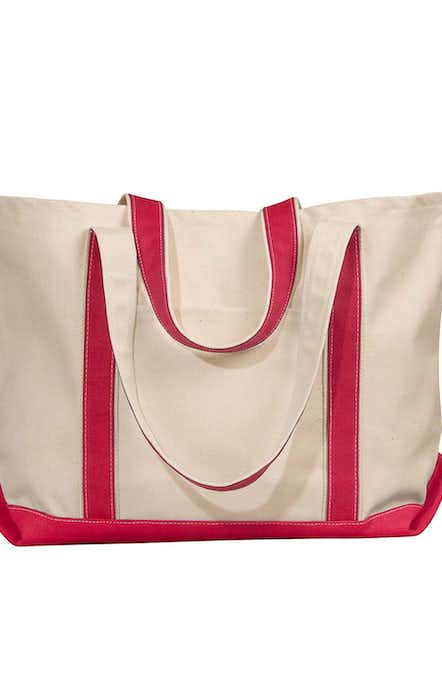 Liberty Bags 8872 Natural/Red