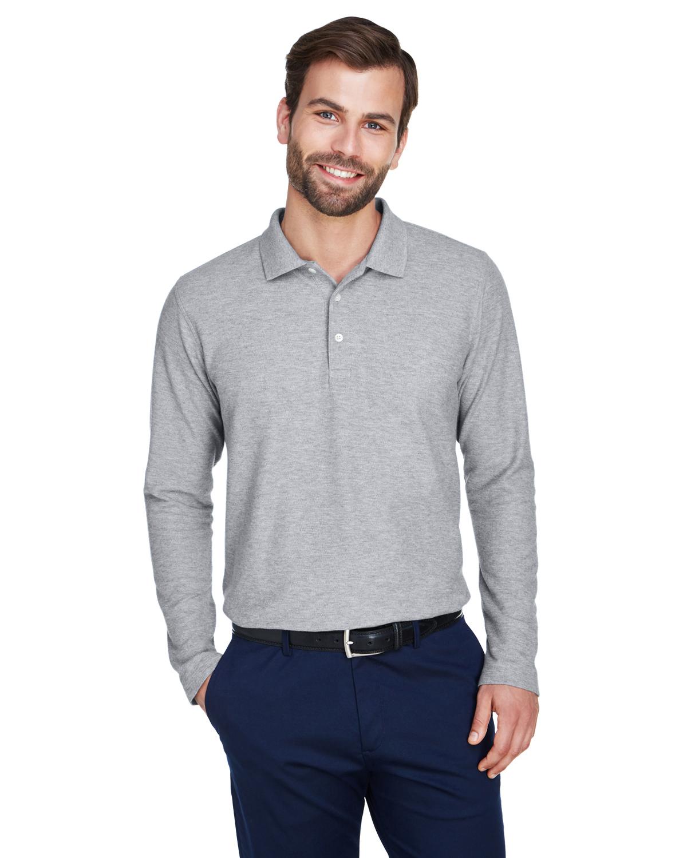 Devon /& Jones Men/'s Three Button 100/% Cotton Long Sleeve Fit Polo Shirt DG170