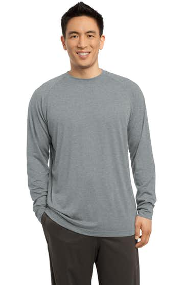 Sport-Tek ST700LS Heather Gray