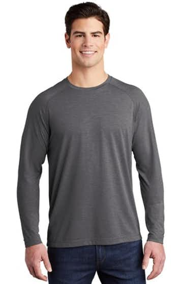 Sport-Tek ST400LS Dark Gray Heather
