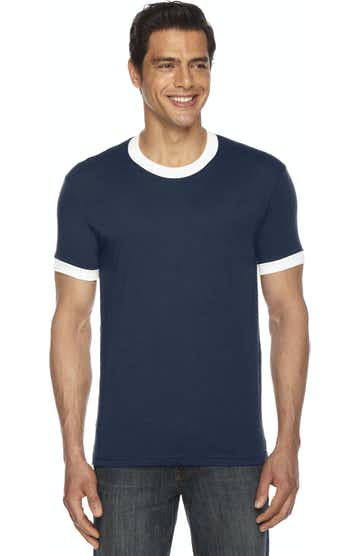 American Apparel BB410W Navy/ White