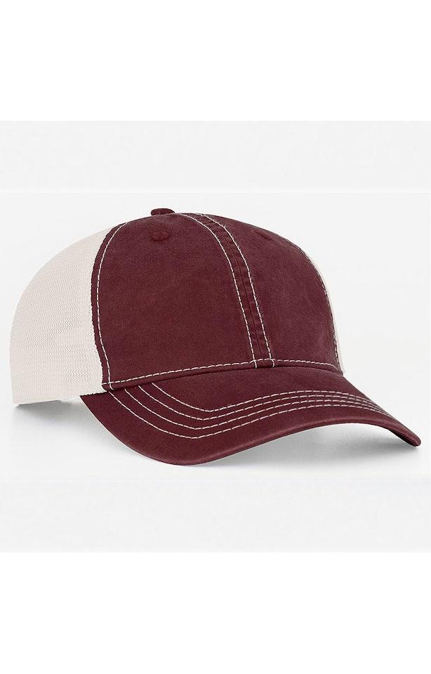 Pacific Headwear 0V67PH Maroon/Ivory
