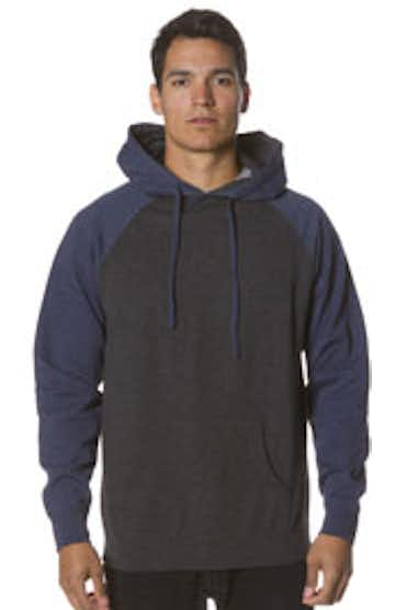 Independent Trading IND40RPJ1 Charcoal Heather/Navy Heather