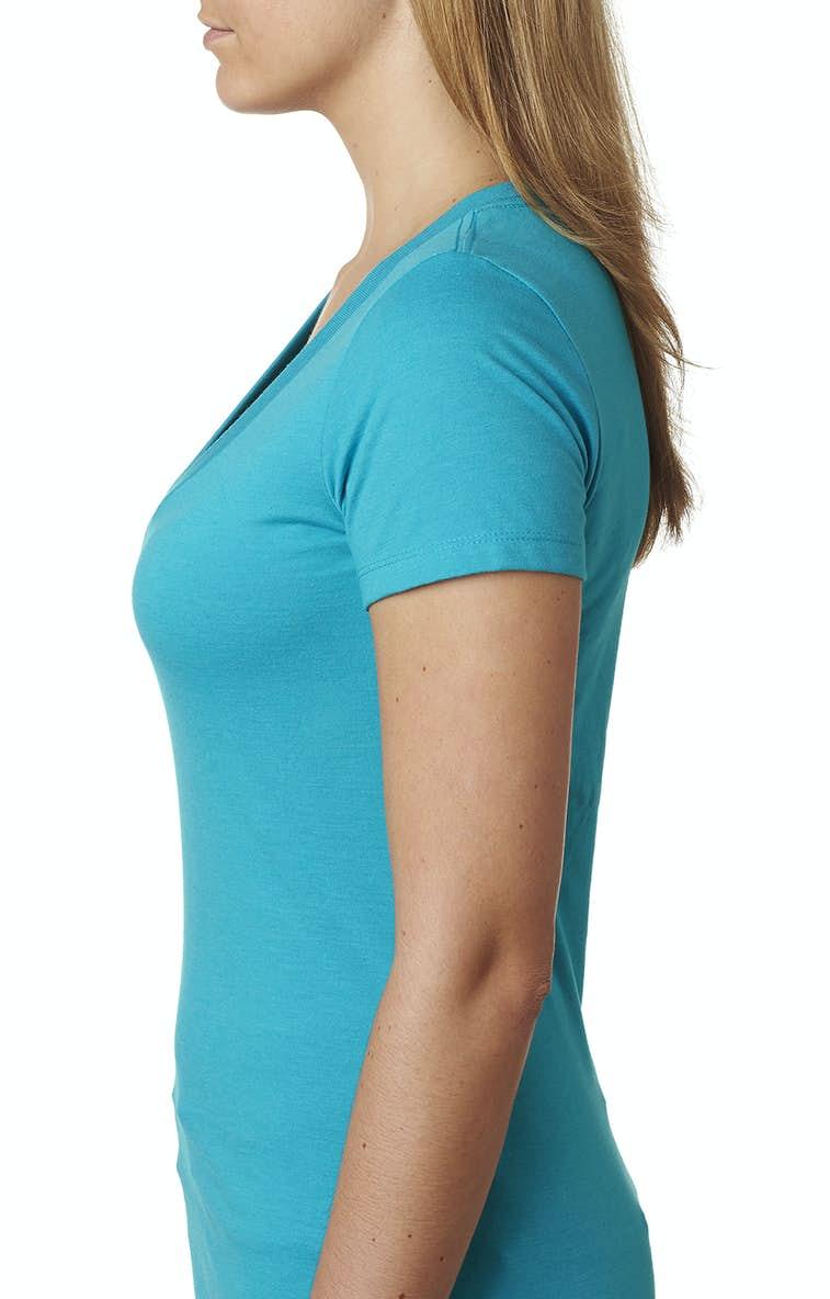 a182e0fe5436e Next Level 6640 Ladies  CVC Deep V - JiffyShirts.com