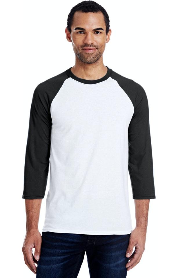 Hanes 42BA White/Black