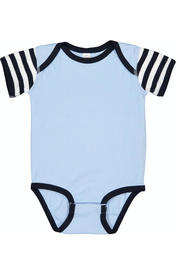 Rabbit Skins 4400 Light Blue / Navy / Navy & White Stripe
