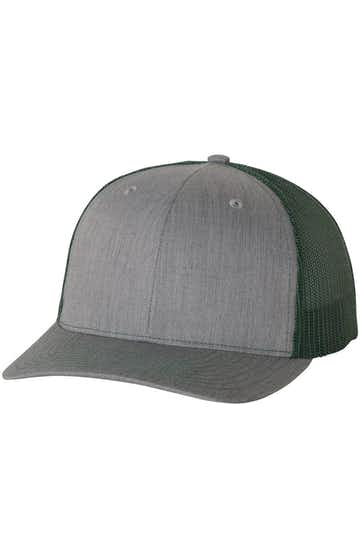 Richardson 112 Heather Grey / Dark Green