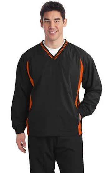 Sport-Tek TJST62 Black / Deep Orange
