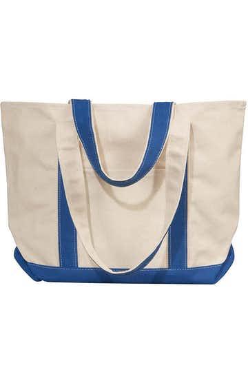 Liberty Bags 8871 Natural/Royal