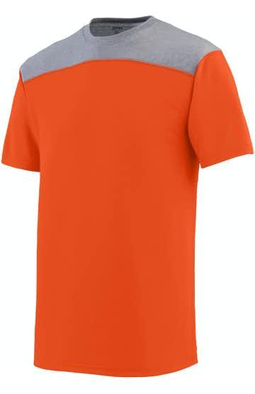 Augusta Sportswear 3055 Ornge/ Grp Hthr