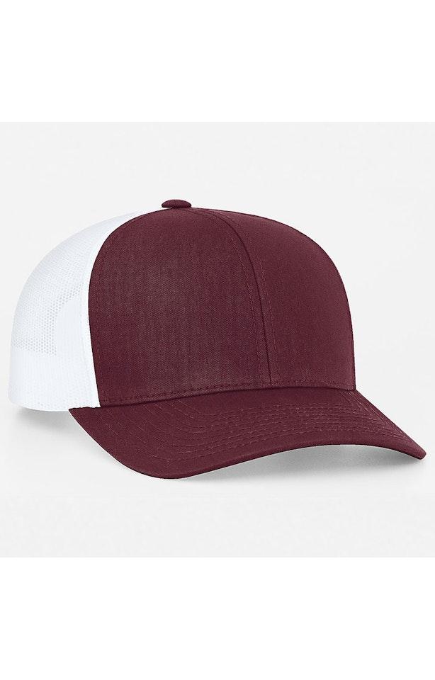 Pacific Headwear 0104PH Maroon/White