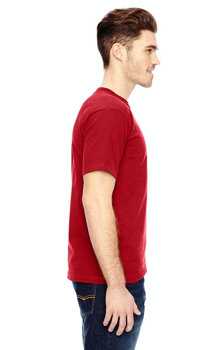 07c29b6232c Bayside BA7100 Adult 6.1 oz., 100% Cotton Pocket T-Shirt - JiffyShirts.com