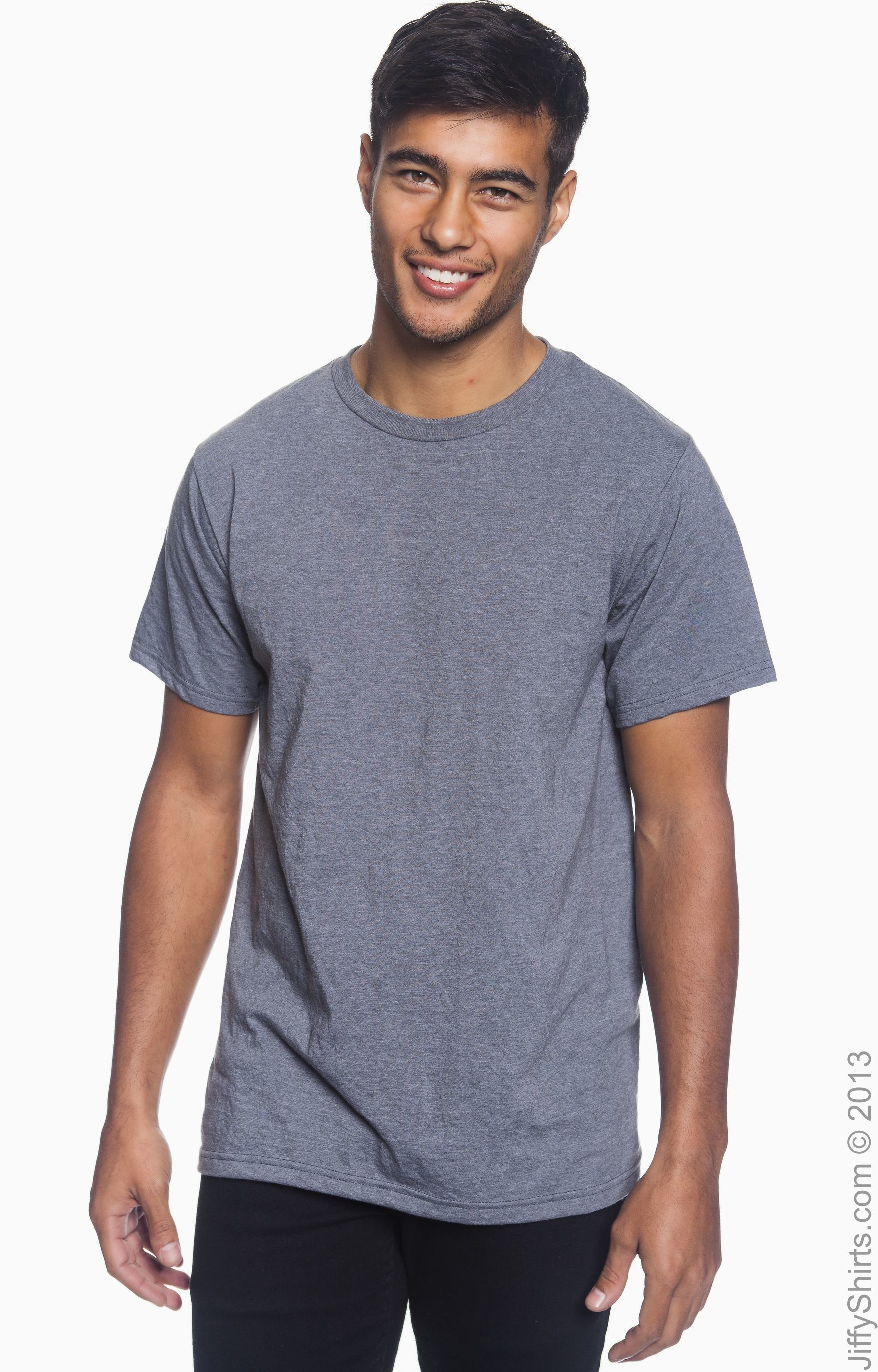 Ringspunrecycled Polyester T 450 Anvil Shirt Organic Charcoal Heather wOPZlTukXi