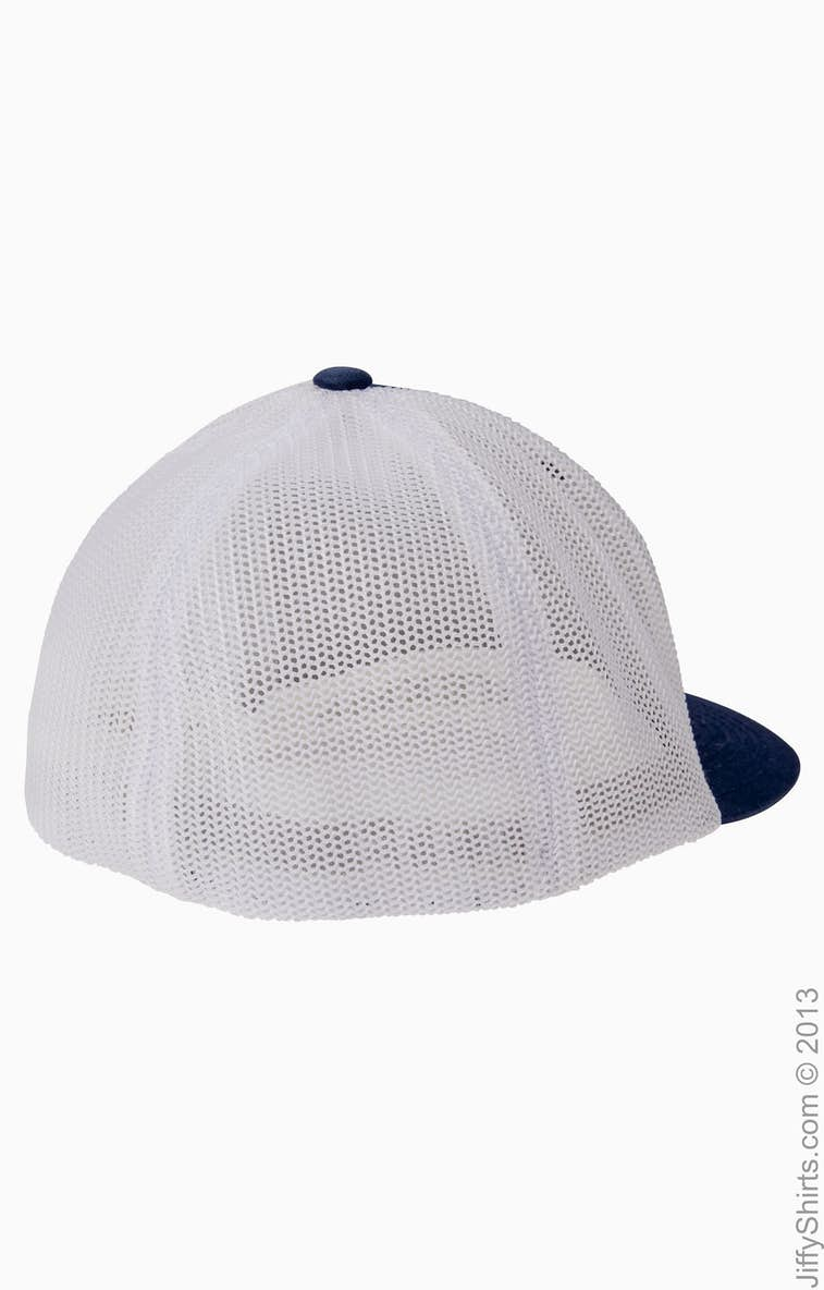8289ec41 Flexfit 6511 Adult 6-Panel Trucker Cap - JiffyShirts.com