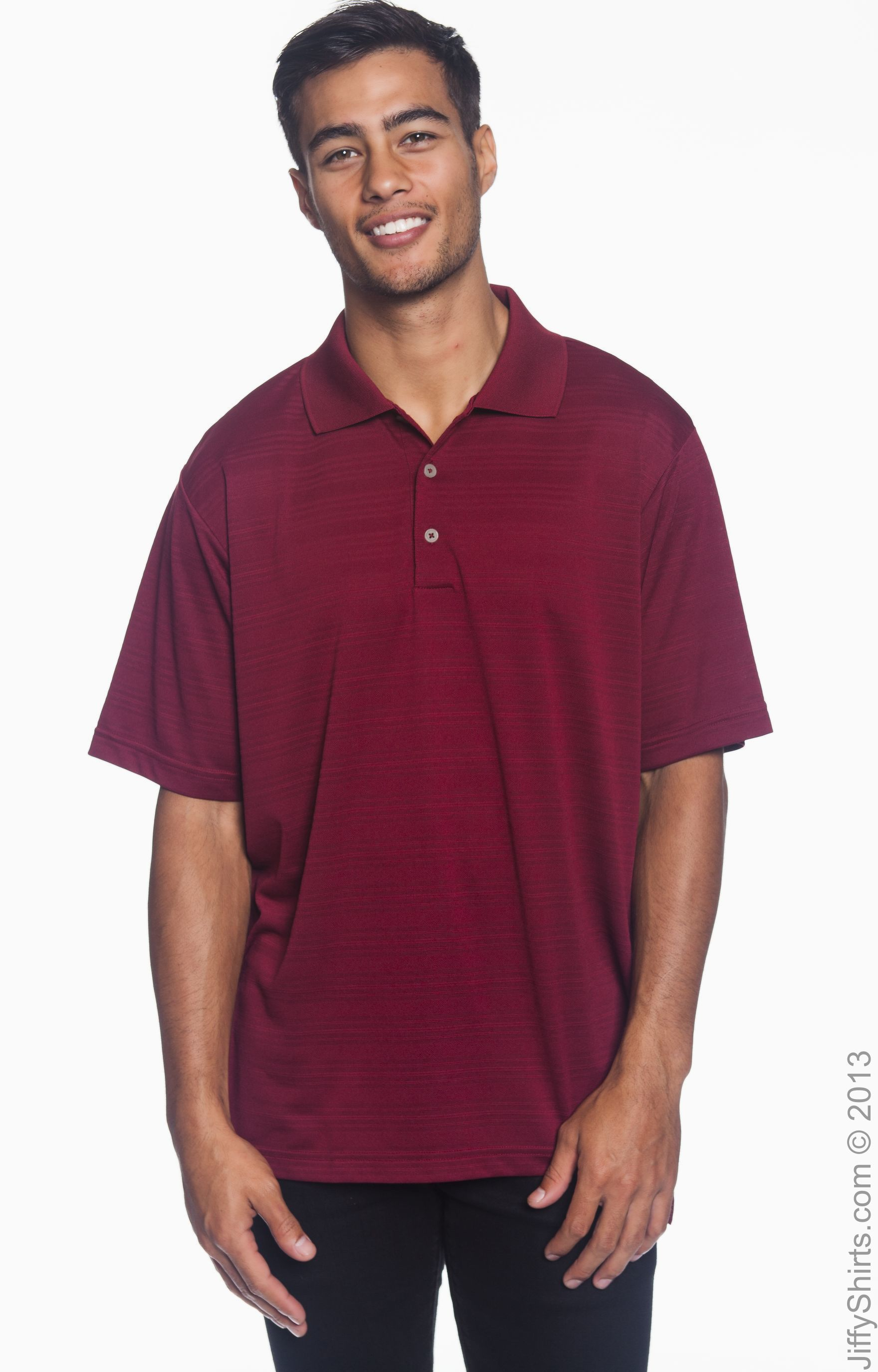 Men's Polo Climalite Adidas Textured A161 Sleeve Short n65H50