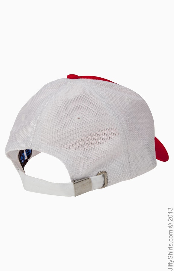 1ecd66dbf Big Accessories OSTM Red/White Old School Baseball Cap with Technical Mesh