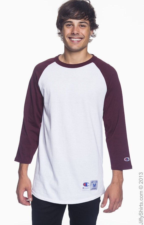 Champion T1397 White/Maroon