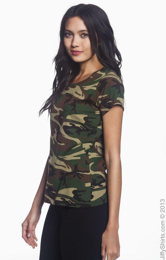 3c5190f0aca79 Code Five 3665 Ladies' Camo T-Shirt - JiffyShirts.com
