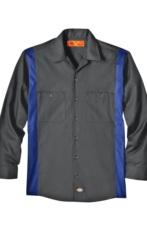 Dickies LL524 Industrial Color Block Long Sleeve Work Shirt
