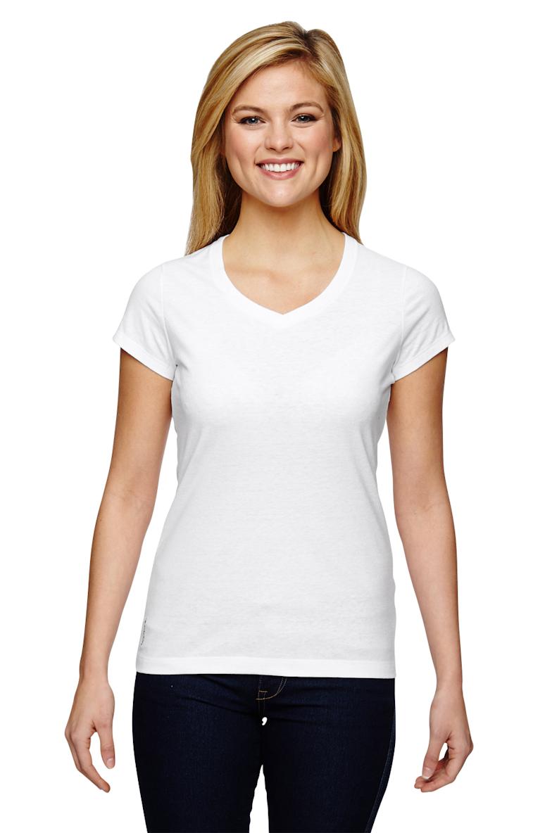 a7774c02b4cbd Champion T050 Ladies  Vapor® Cotton Short-Sleeve V-Neck T-Shirt ...