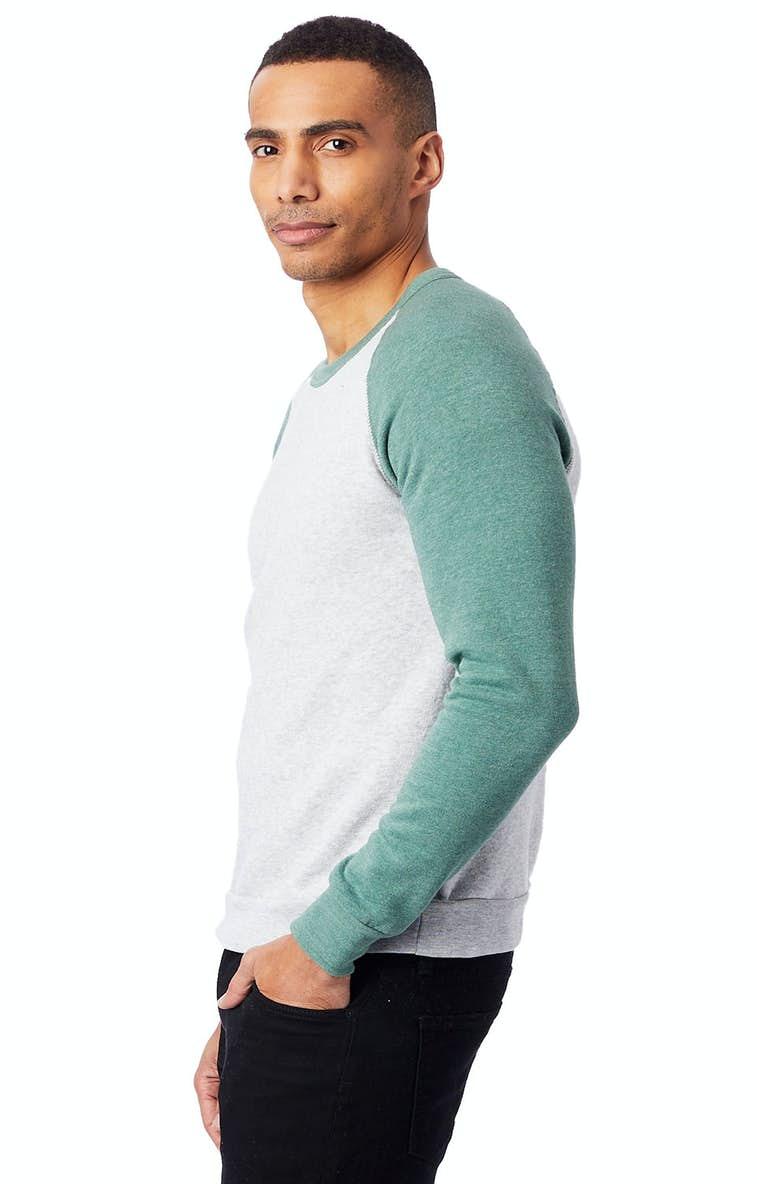 1c56a7f8a6d Alternative AA3202 Unisex Champ Eco-Fleece Colorblocked Sweatshirt -  JiffyShirts.com