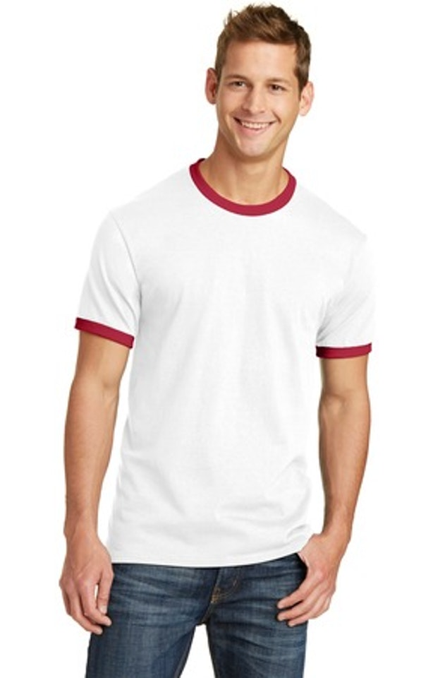 Port & Company PC54R White / Red