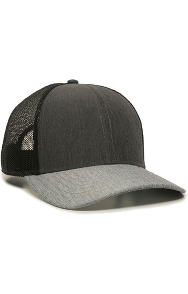 Outdoor Cap OC770 Heath Charcoal / Black / Heath Gray