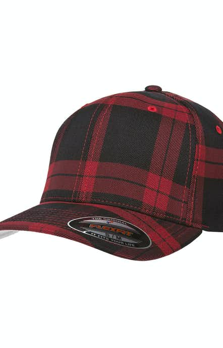 Yupoong 6197 Black/Red