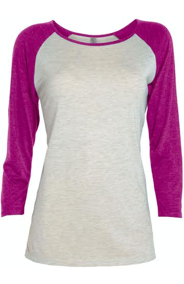 Platinum P508T Oatmeal Heather / Berry Heather