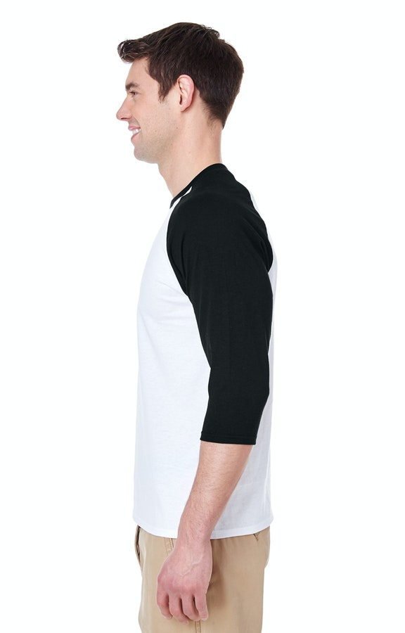 c2c2a1e5 Gildan G570 Adult Heavy Cotton™ 5.3 oz. 3/4-Raglan Sleeve T-Shirt -  JiffyShirts.com