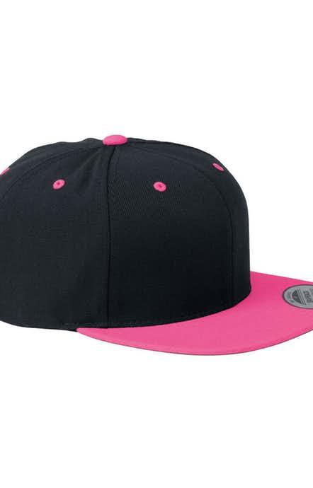 Yupoong 6089 Black/Neon Pink
