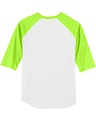 Sport-Tek T200J1 White / Lime Shock