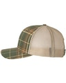 Richardson 112P Plaid Print Thyme Green/ Toast/ Khaki
