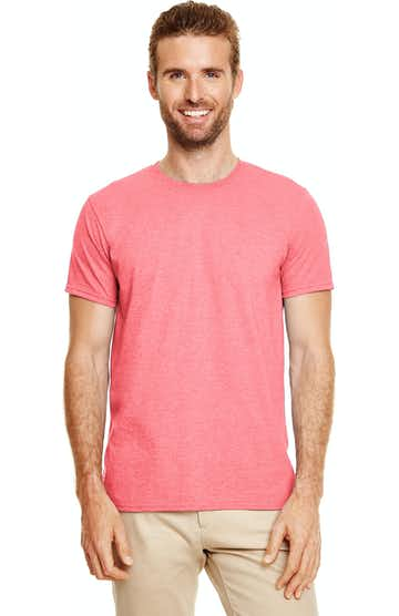 Gildan G640 Heather Coral Silk