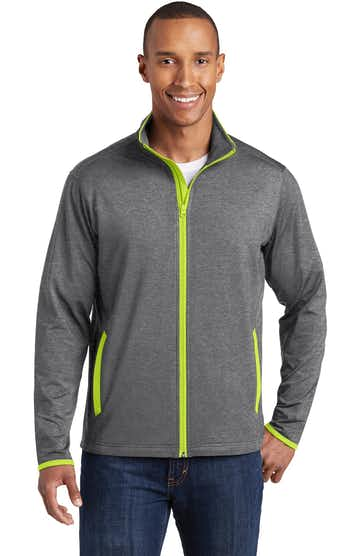 Sport-Tek ST853 Charcoal Gray Heather / Charge Green