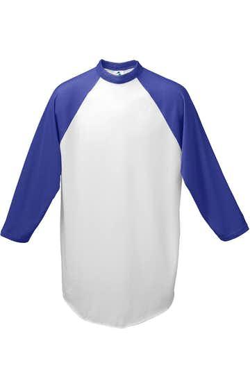 Augusta Sportswear AG4420 White/ Purple