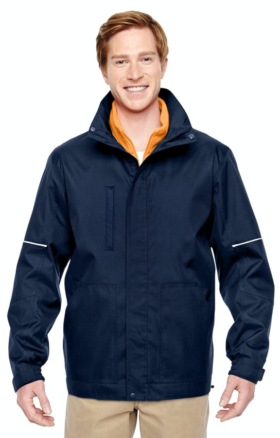 Harriton M772 Dark Navy/Safety Orange