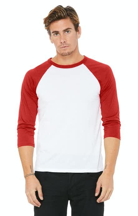 Bella+Canvas 3200 White / Red