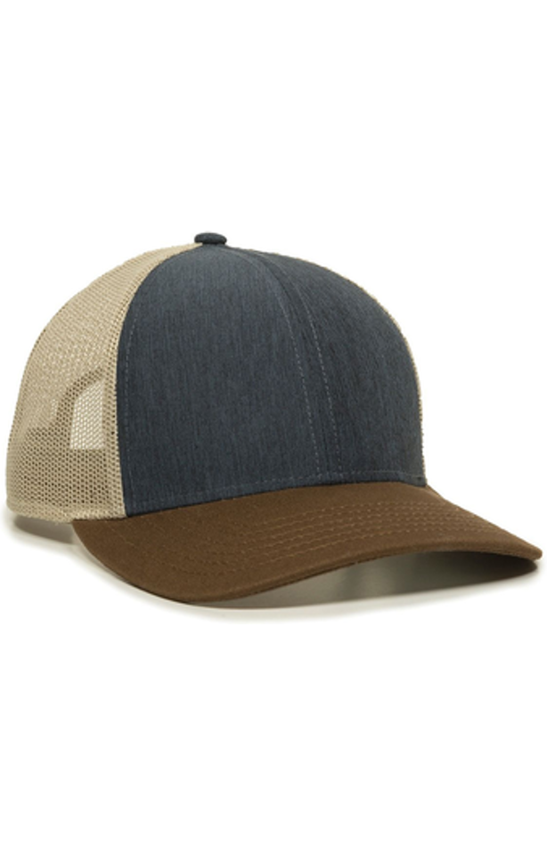 Outdoor Cap OC770 Heather Navy / Khaki / Brown