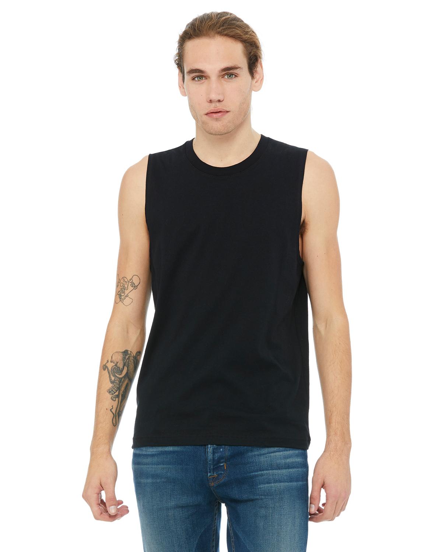 Medium Black Bella Canvas Big Boys Blend Comfort Jersey Tank Top